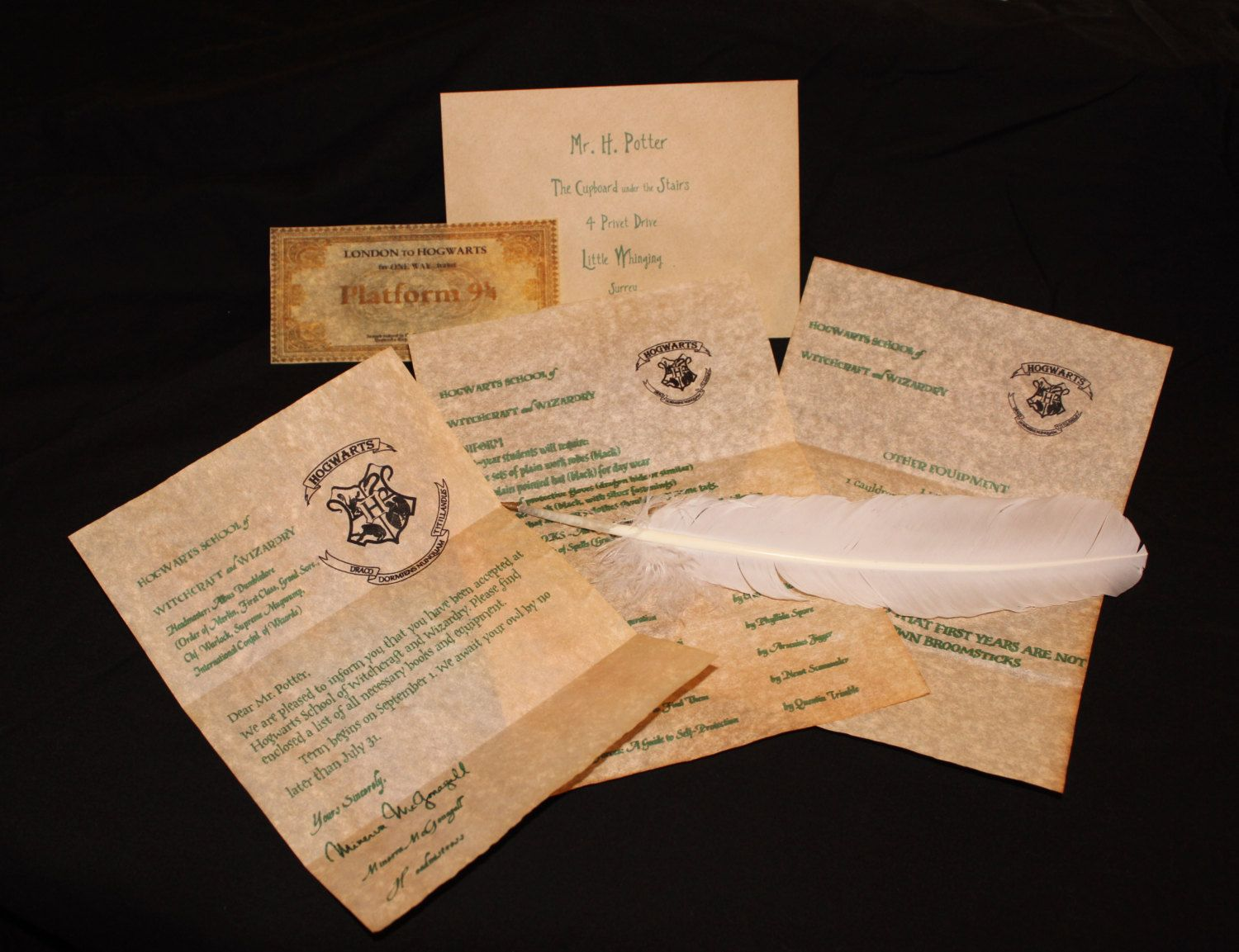 Hogwarts acceptance letter! Personalized with the name