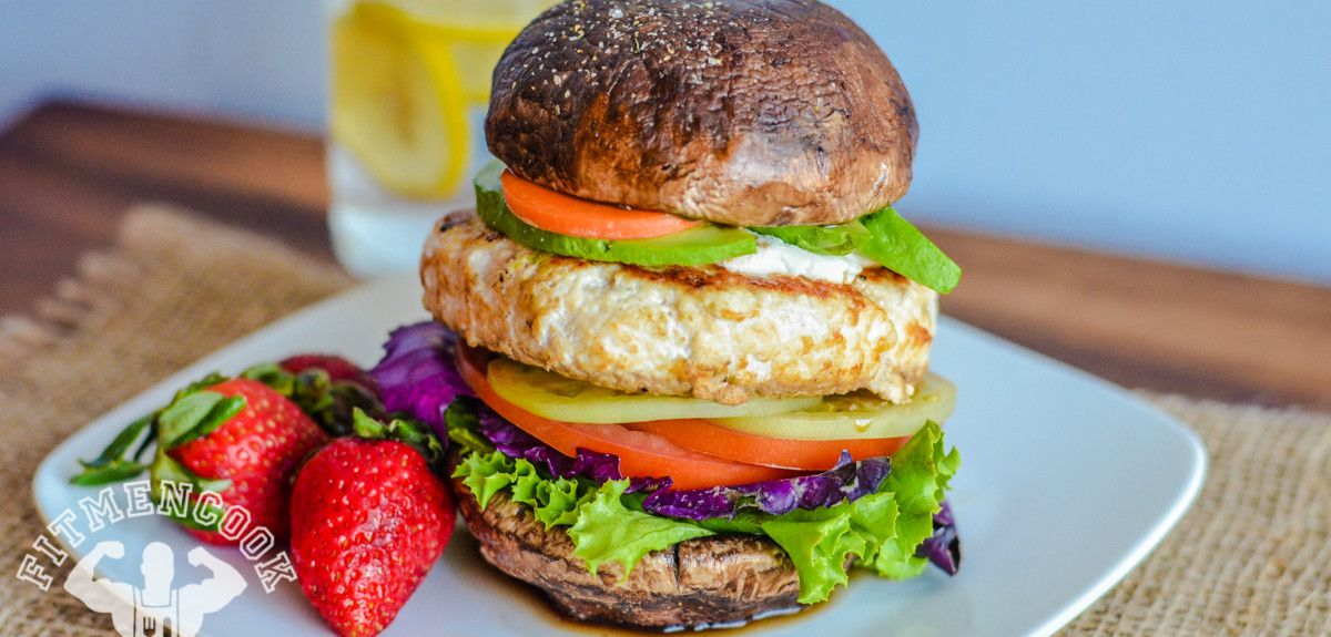 This right here!!! From #FitMenCook - Low Carb Chicken Burger. #eatclean #paleo