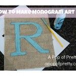 How to Create Monogram Wall Art {without vinyl cutting}