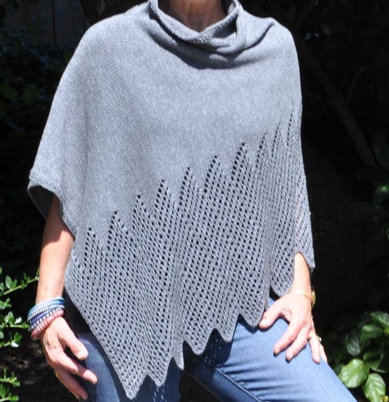 Lattice Lace Poncho | Вязание | Pinterest | Ponchos, Knit patterns ...