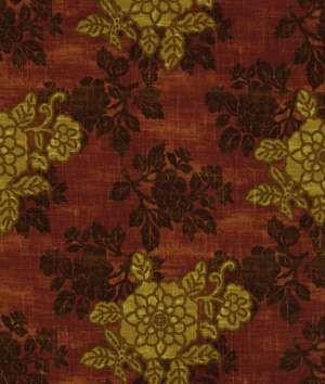 Robert Allen @ Home Robert Allen Belle Crest Claret Fabric - $19.65 | onlinefabricstore.net