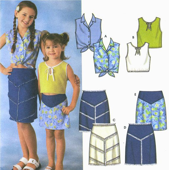 GIRLS Western Sewing Pattern Skirts & Tops Tie by patterns4you
