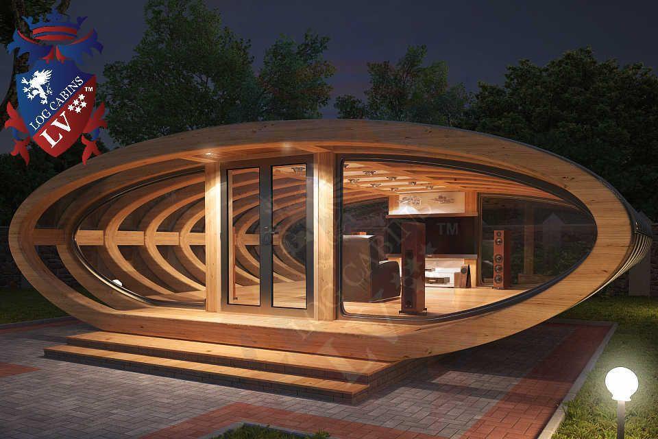 Curved Cinema Pod Log Cabins LV 748   crazy   Pinterest