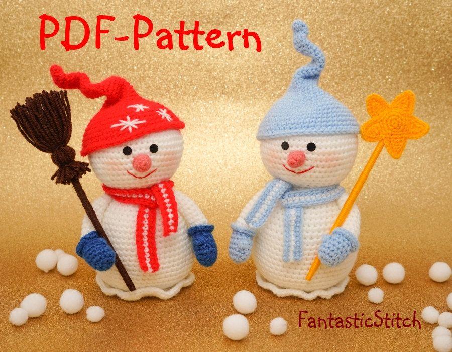 Easy Christmas Amigurumi : Crochet pattern snowman christmas amigurumi instant download pdf 22