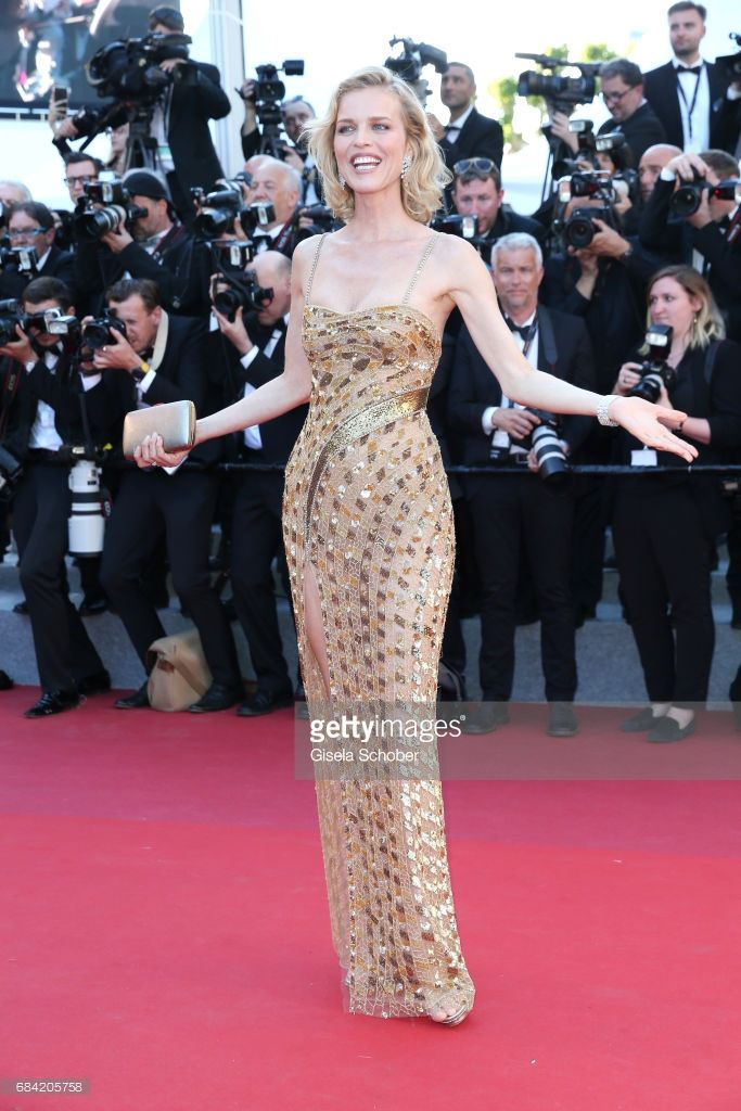 Eva Herzigova attends the 'Ismael's Ghosts (Les Fantomes d'Ismael)' screening and Opening Gala during the 70th annual Cannes Film Festival at Palais des Festivals on May 17, 2017 in Cannes, France.