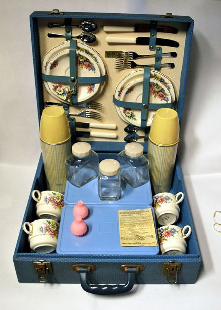 1950s Brexton Picnic Set With Original China