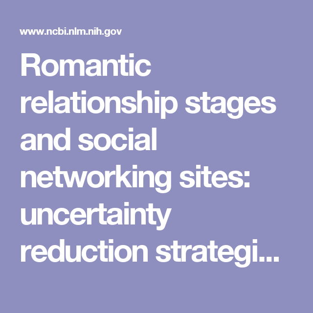 Romantic relationship stages and social networking sites