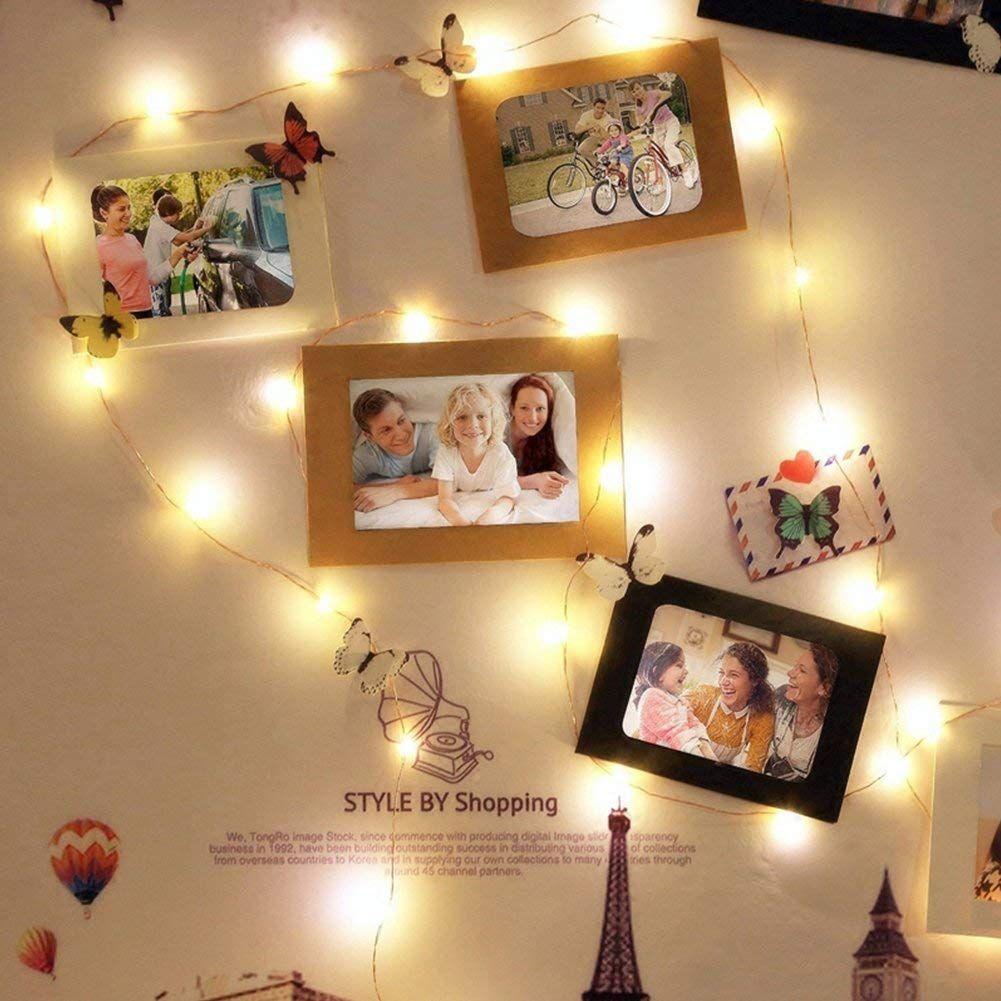 Polaroid Wall Photo Walls Bedroom Fairy Lights Bedroom Cute Room Decor