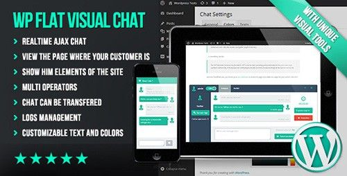 ShareFull.Net – CodeCanyon – WP Flat Visual Chat v2.6.   This unique chat not only allows you to communicate with your customers, but also to guide them through the pages of the site showing them visually any element.  DEMO WP Flat Visual Chat...  ♡ ShareFull.Net ☼ Info & Download: http://goo.gl/6wERQB »»»
