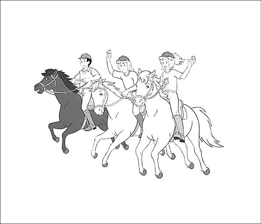 bibi und tina malvorlagen pferde  ausmalbilder ausmalen