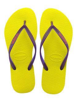 16484f645 Havaianas Slim Logo - Neon Yellow