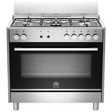 LA GERMANIA - Cucina Elettrica TUS95C61LDX 5 Fuochi a Gas Forno ...