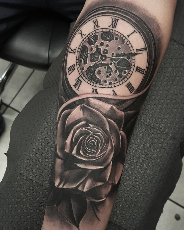 6f6d3ed3ba306 80 Timeless Pocket Watch Tattoo Ideas A Classic and Fashionable Totem Calf  Tattoos For Men,