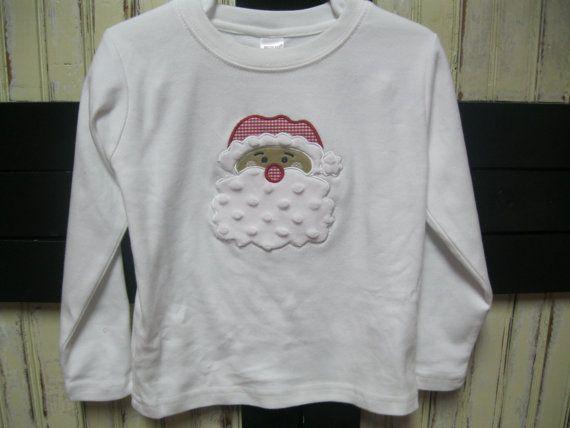 Santa Boy Tshirt by byHishandsdesigns on Etsy, $20.00