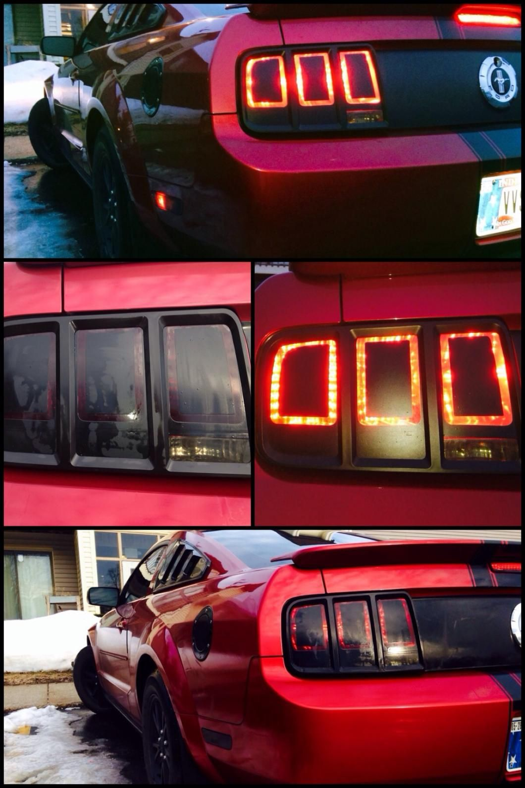 American Muscle Graphics Tail Light Conversion Decal Kit Matte Black 05 09 All In 2020 With Images 2009 Mustang Smooth Wrinkles Style Upgrade