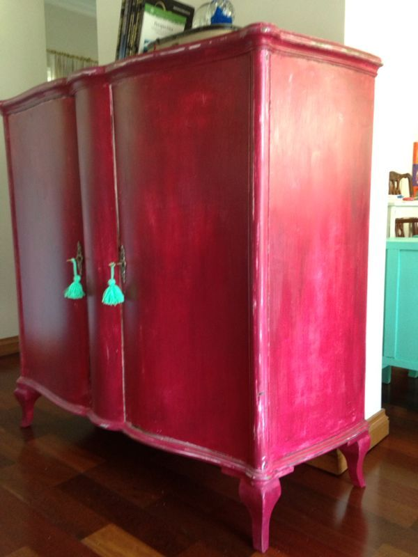 ROPERO FRANCES CIRUELA DECAPADO | Muebles decapados | Pinterest ...