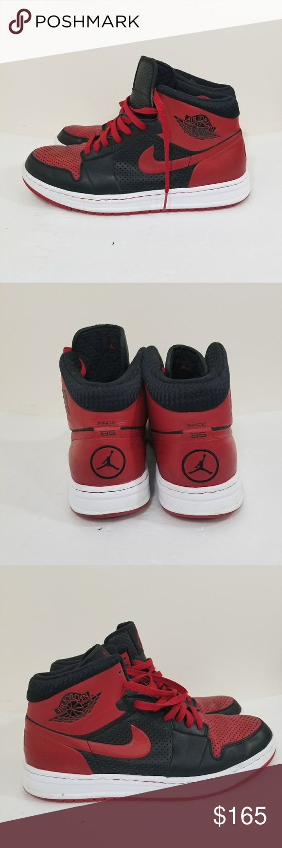 9bf36fef459 NIKE AIR JORDAN Alpha I Black Varsity red 11 NIKE AIR JORDAN Alpha I Black  Varsity