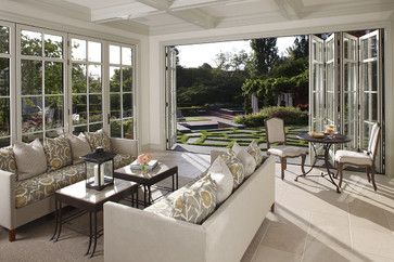 Bi Fold Nana Doors Allow For An Open Space Floor Plan Coffered Ceilings To Match The I M Totally In Love With Those Doors Sunroom Designs House Design Home