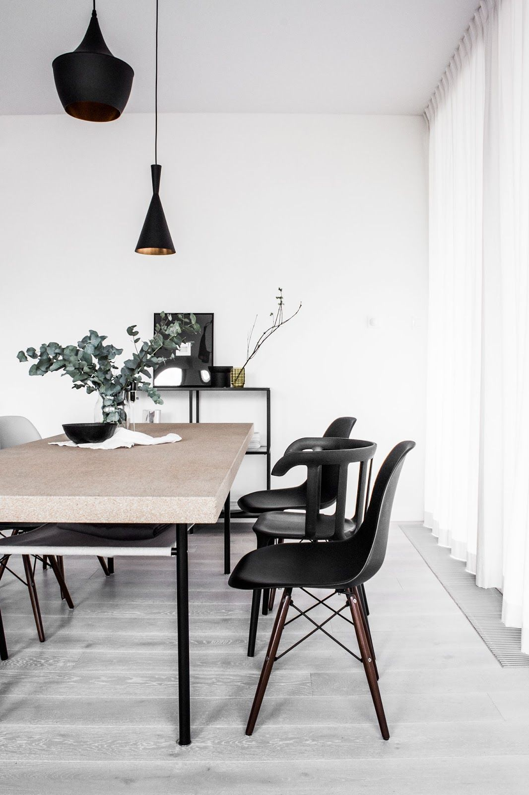 Cork Dining Table Tom Dixon Lamps Black Eames Chair Nordic Interior Dining Chair Makeover Home Decor Decor
