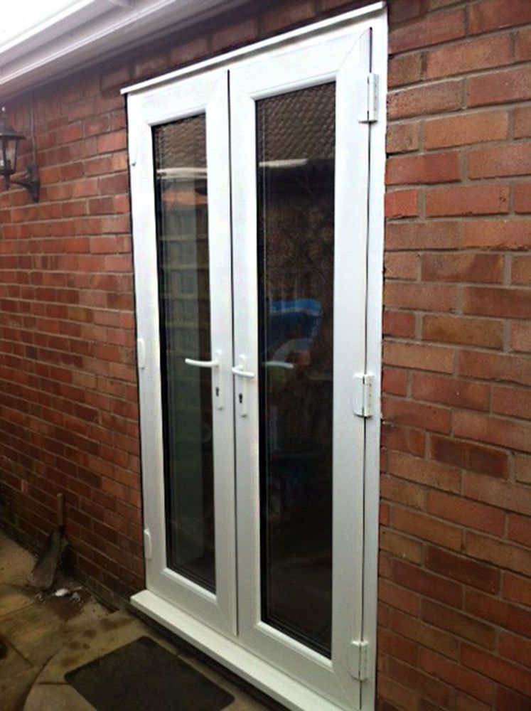 White Upvc Patio French Door 1000 1200mm Wide New Not Flat Pack French Doors Patio French Doors Upvc