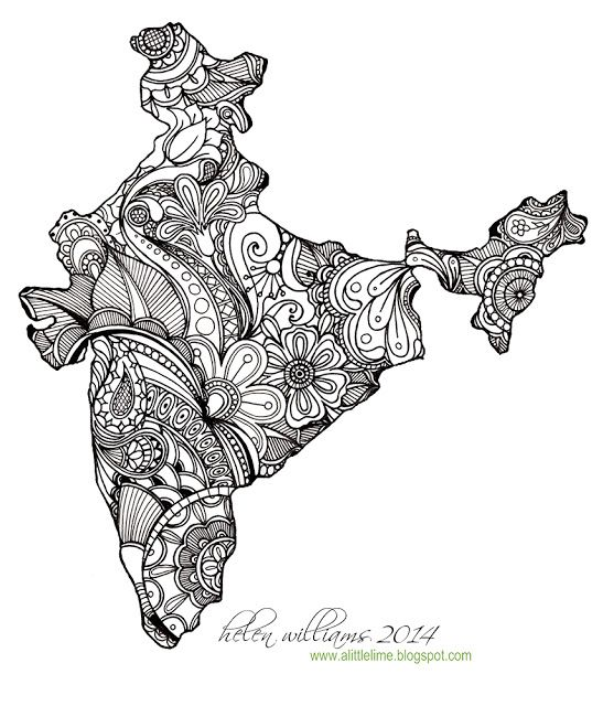"A Little Lime: India Map ""India"""