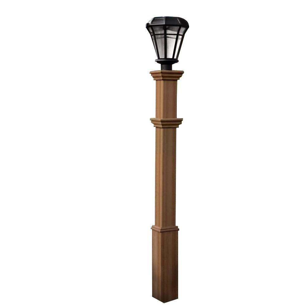 New England Arbors Burton 72 In Composite Lamp Post Va94431 Home Remodle New England Arbors Outdoor Lamp Posts