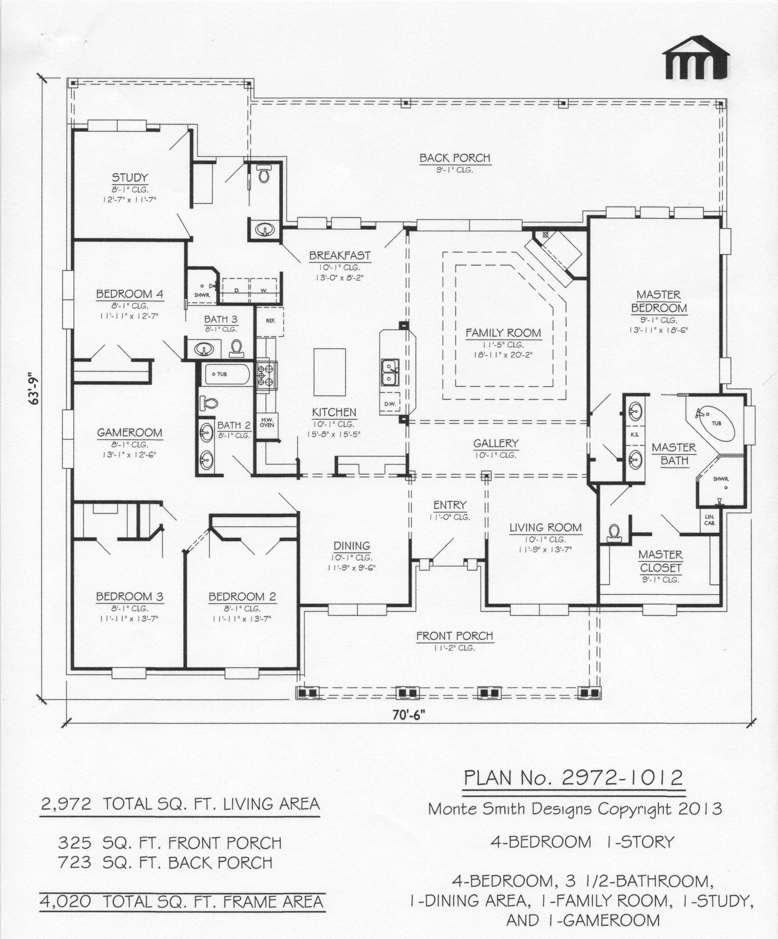 2972 1012 Monte Smith Designs House Plans How To Plan Dream