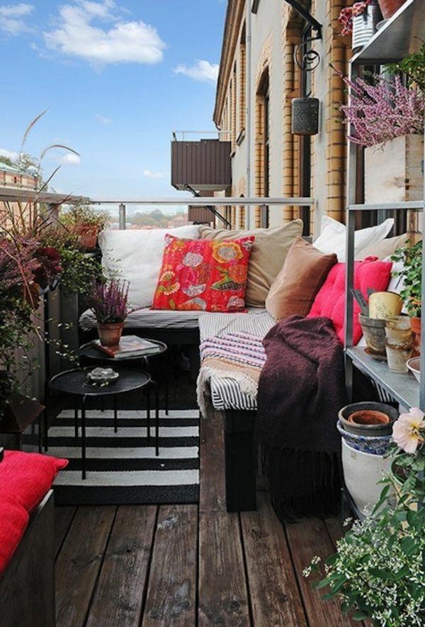 Ideen Für Kleine Balkone balkondeko ideen für eine bequeme und schöne balkonatmosphäre
