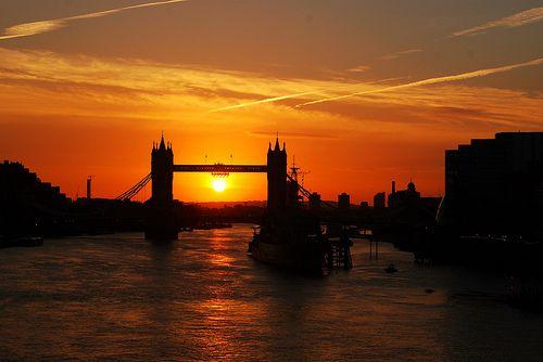 Tower Bridge sunrise by Edek Giejgo