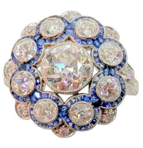 Cartier Platinum, Diamond & Sapphire Ring, 1920
