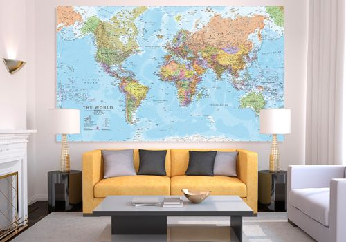 Canvas world map huge wm1155 maps international random house canvas world map huge wm1155 maps international gumiabroncs Gallery