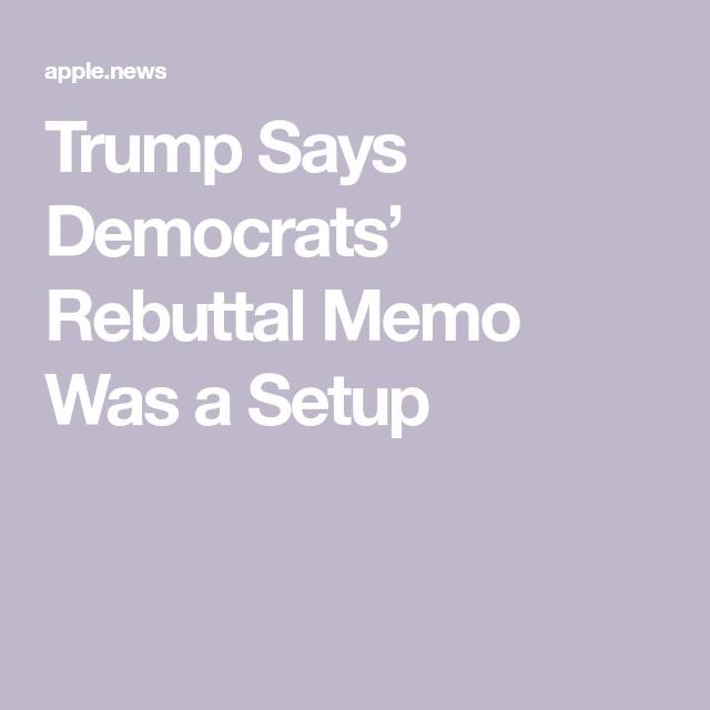 memo setup