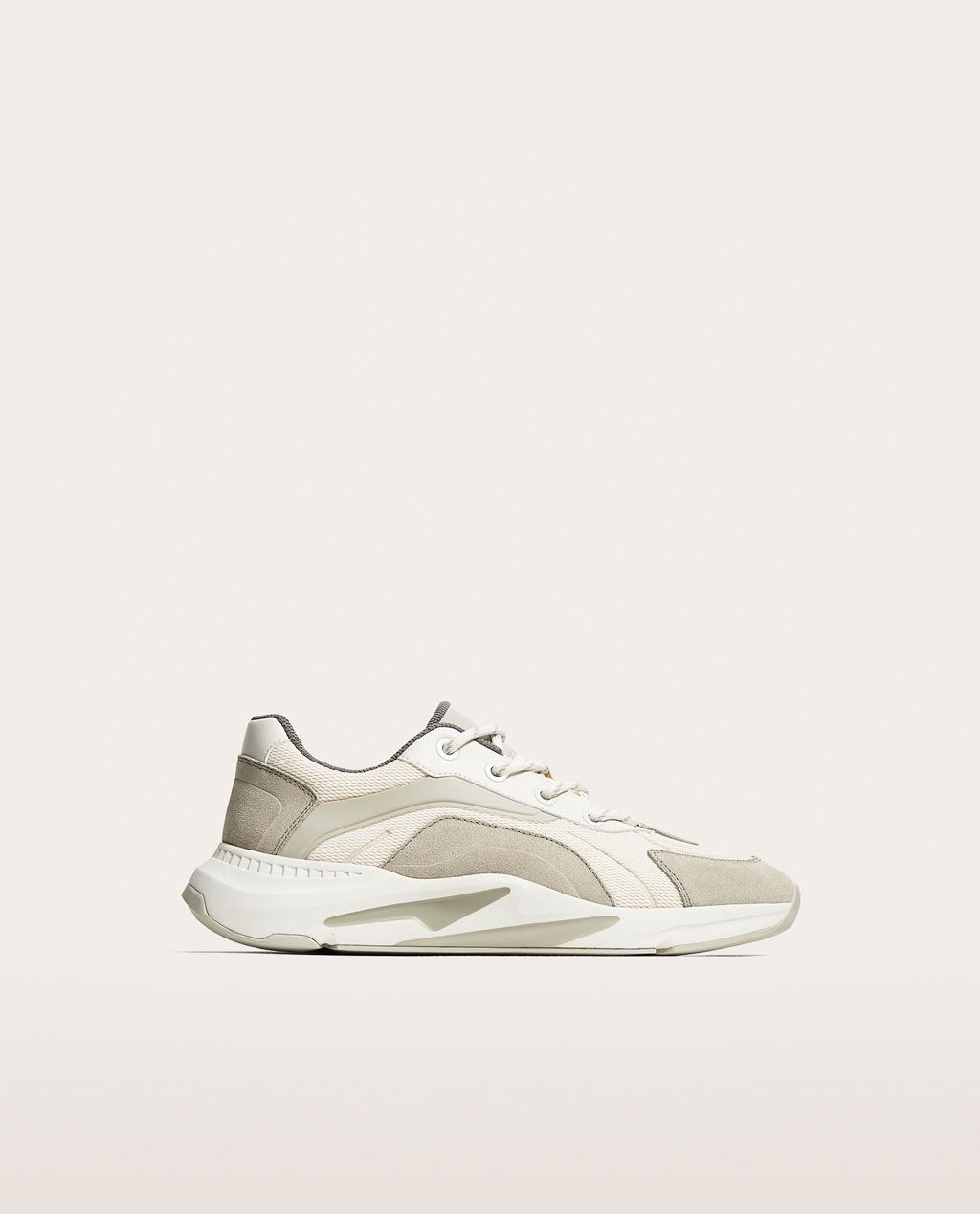 brand new 714b5 a61a6 Image 2 of WHITE AND GREY SNEAKERS WITH THICK SOLES from Zara
