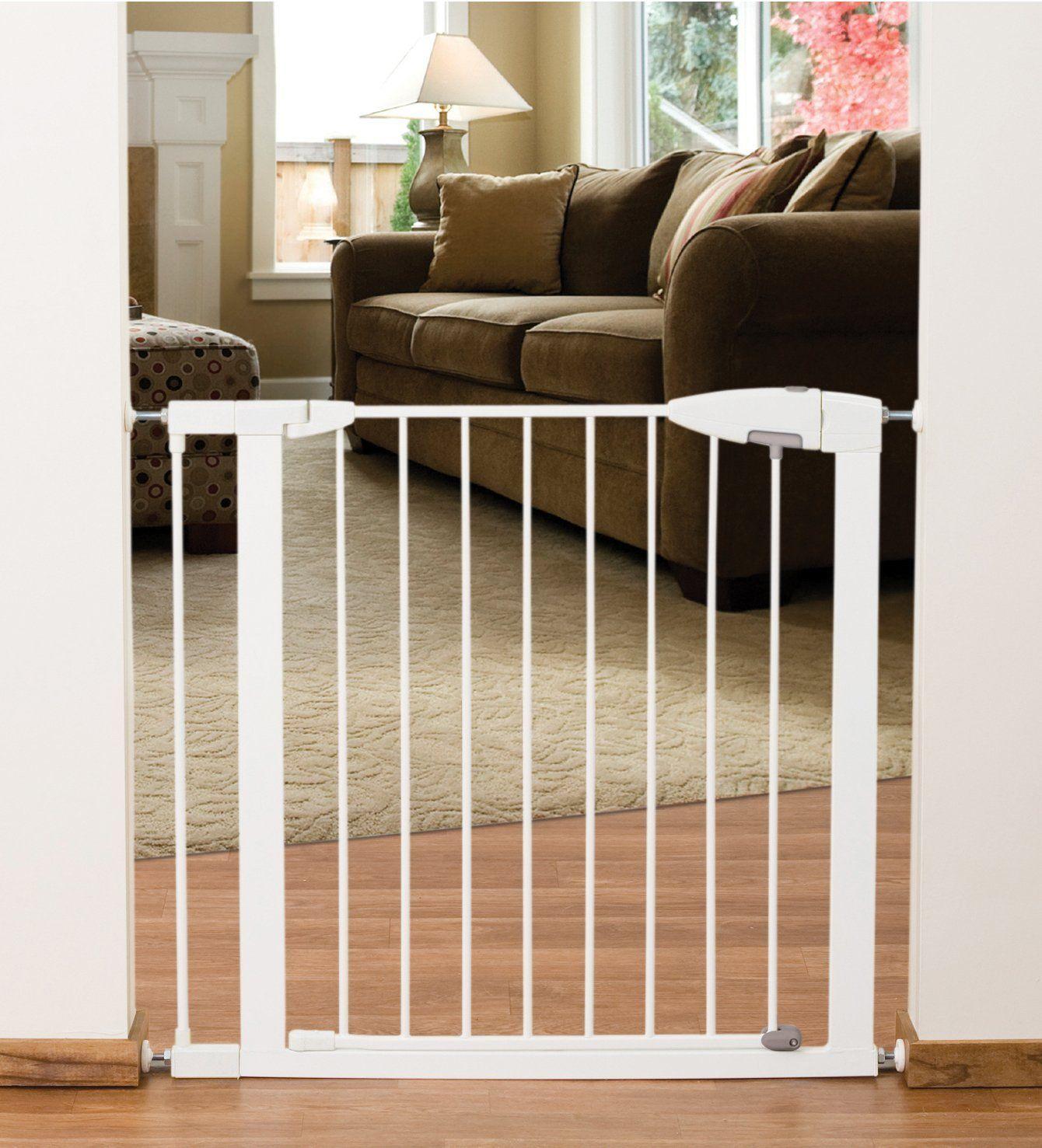 Munchkin EasyClose Metal Safety Gate, White Indoor