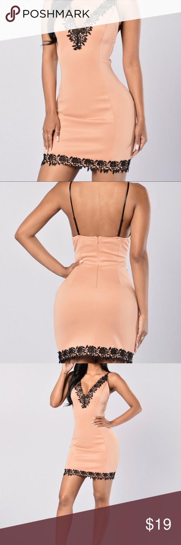 81423142f2c Fashion Nova Nude pink and black dress. Size  S