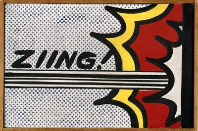 Roy Lichtenstein 1962 - ZIING! - Oil on canvas (20 x 30 cm). #colors #design @deFharo