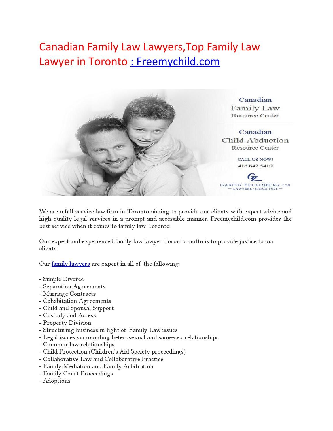 Canadian Family Law Lawyers,Top Family Law Lawyer in