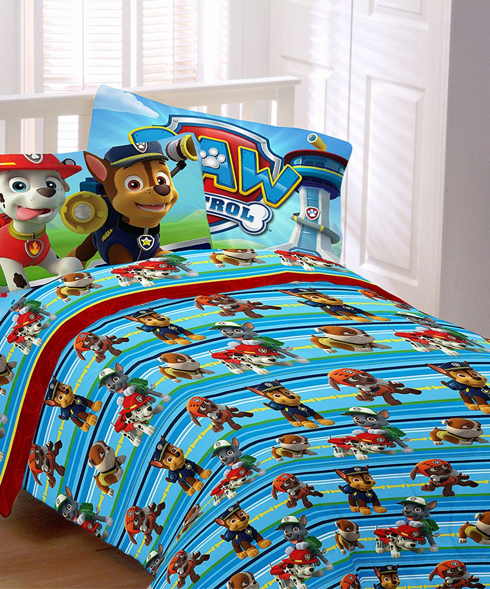 Another great find on #zulily! PAW Patrol Puppy Hero Sheet ...
