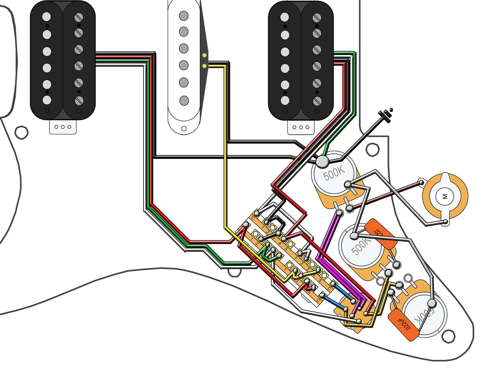 hight resolution of fender strat hh wiring diagram wiring diagram schemamusic the valley of dry bones new stratocaster hsh
