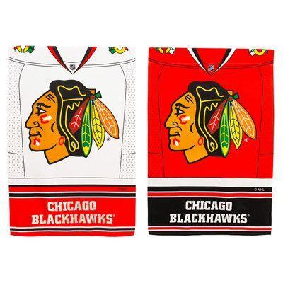 Evergreen Enterprises, Inc NHL DS Suede Foil Regular Jersey Banner Flag NHL Team: Chicago Blackhawks