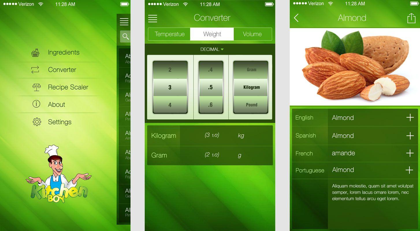 KitchenBoy Mobile app, App development, Mobile app