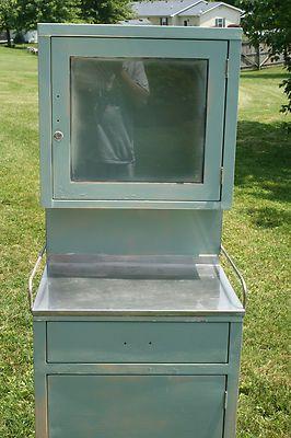 Vintage Industrial metal Dental Medicine Dentist Cabinet Storage Chest Bathroom | eBay