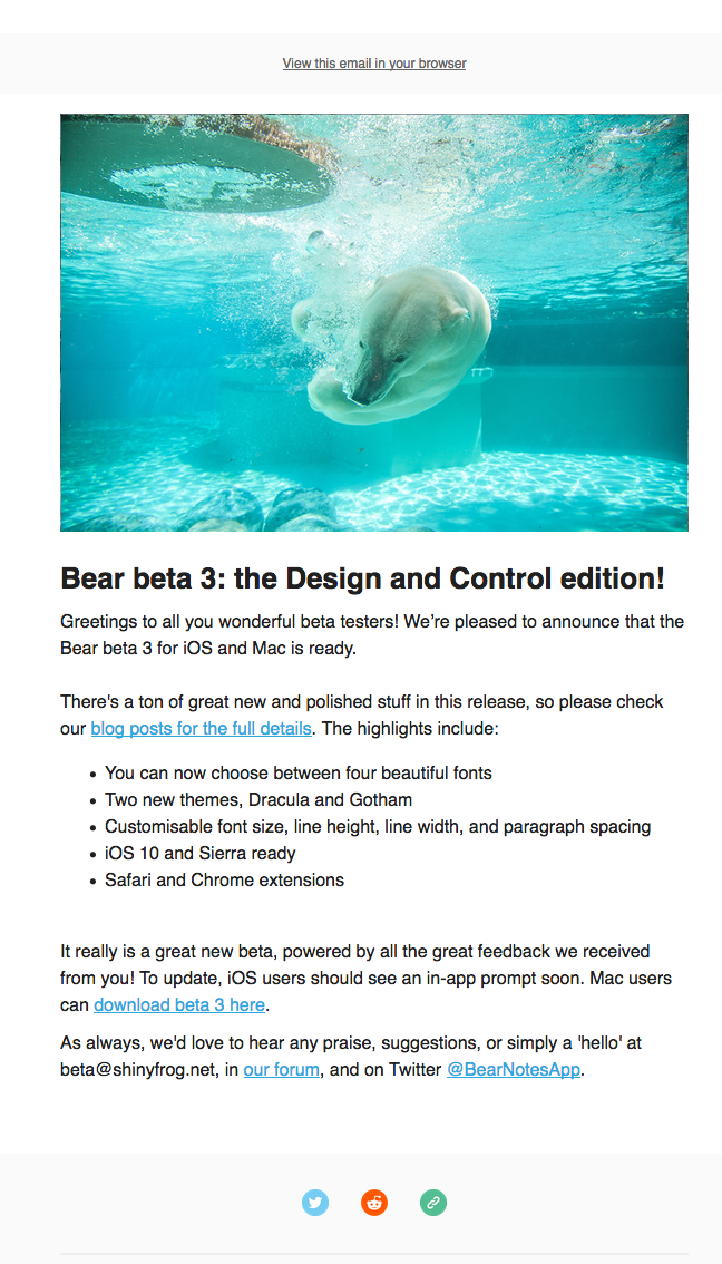 Bear beta 3: the Design and Control Edition