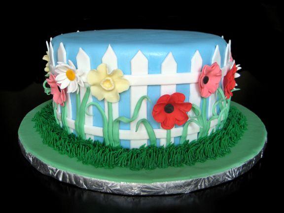 Flower Garden Cake   Garden cakes, Birthday cake, Cake