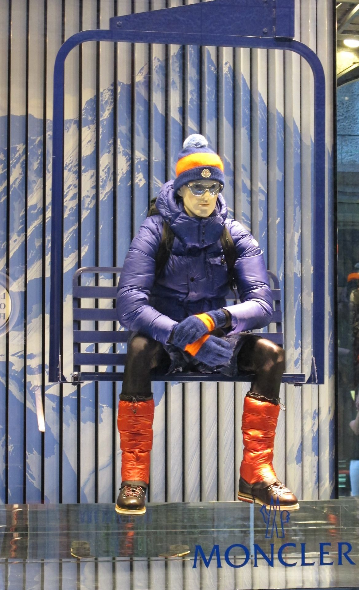 """MONCLER, Milan, Italy - Via Della Spiga, """" Let's go skiing......................just waiting for the snow, it's coming, be patient"""", pinned by Ton van der Veer"""