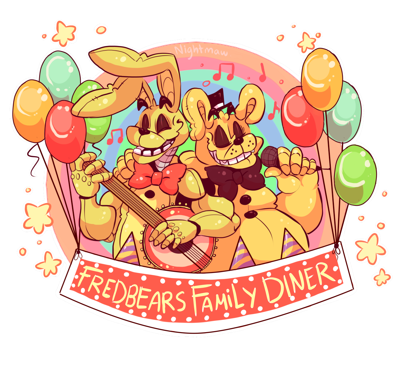 fredbears family diner posters toy bonnie redbubble