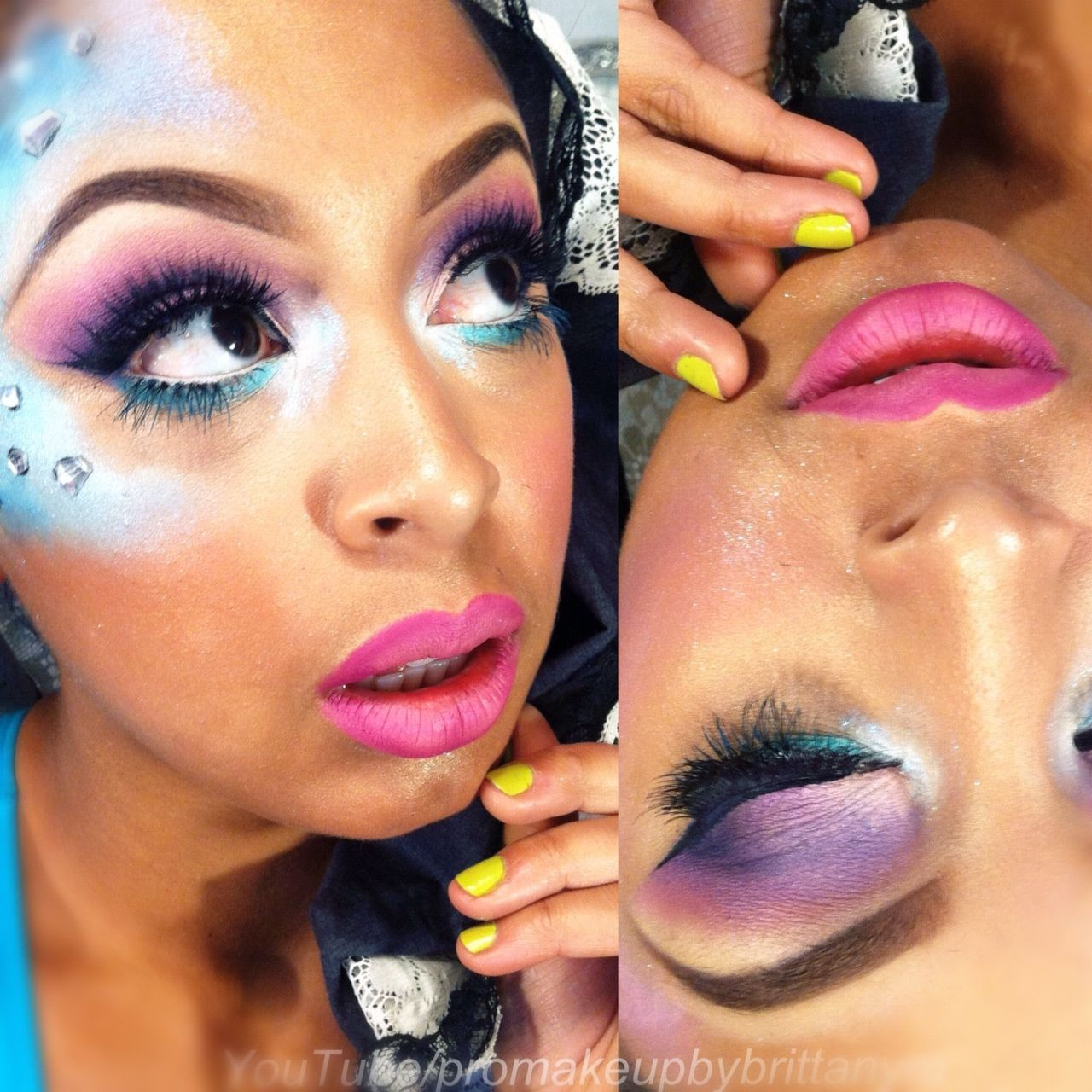 Mermaid Makeup Inspiration   Instagram.com/makeupbybrittanym