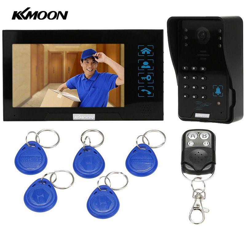 """KKmoon 7"""" Video Door Phone Doorbell Touch Button"""