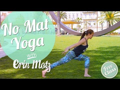 yoga without a mat  simple yoga flow for those times
