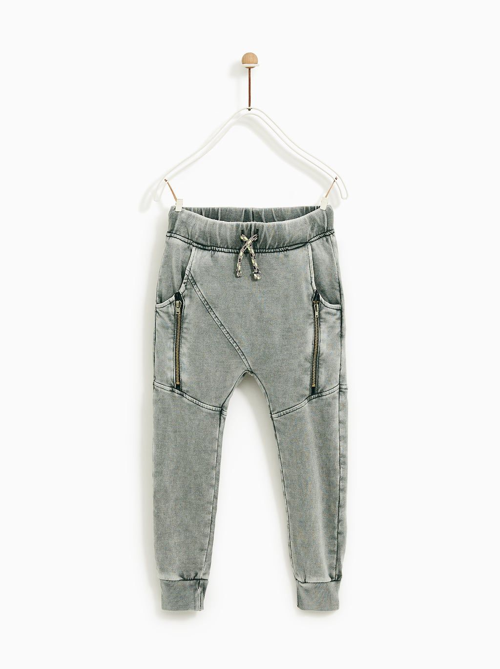 000c93e9 Image 1 of FADED TROUSERS WITH ZIPS from Zara | Babies | Pantalones ...